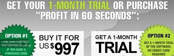 profit in 60 seconds scam report - landing page lies